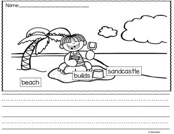 Picture Writing Prompts For Beginners. Labeled picture provide students with support during the writing process with easy pictures for students just beginning to write