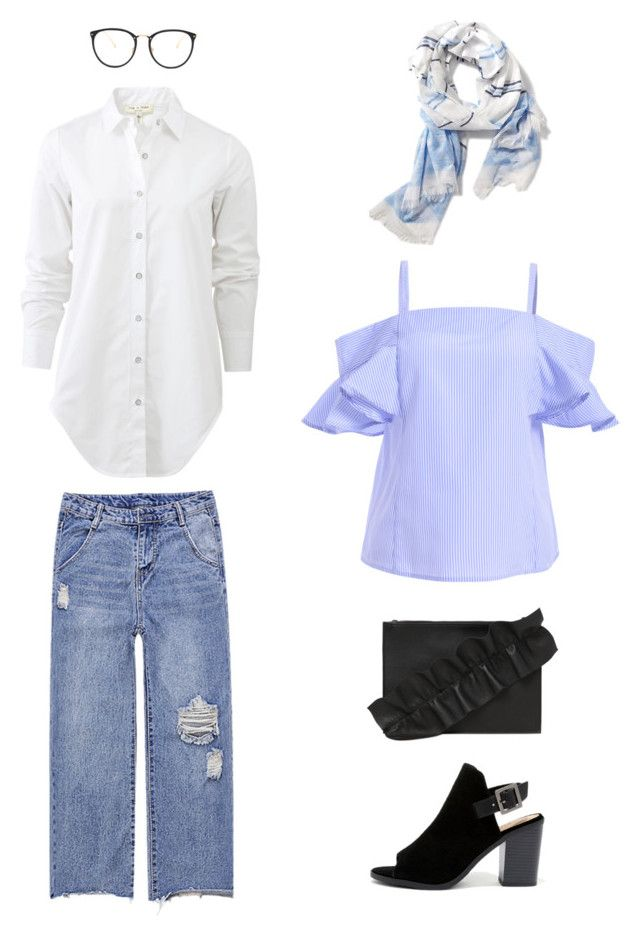 """""""Untitled #84"""" by priliscaa on Polyvore featuring Soda, Old Navy, MSGM, rag & bone and Linda Farrow"""