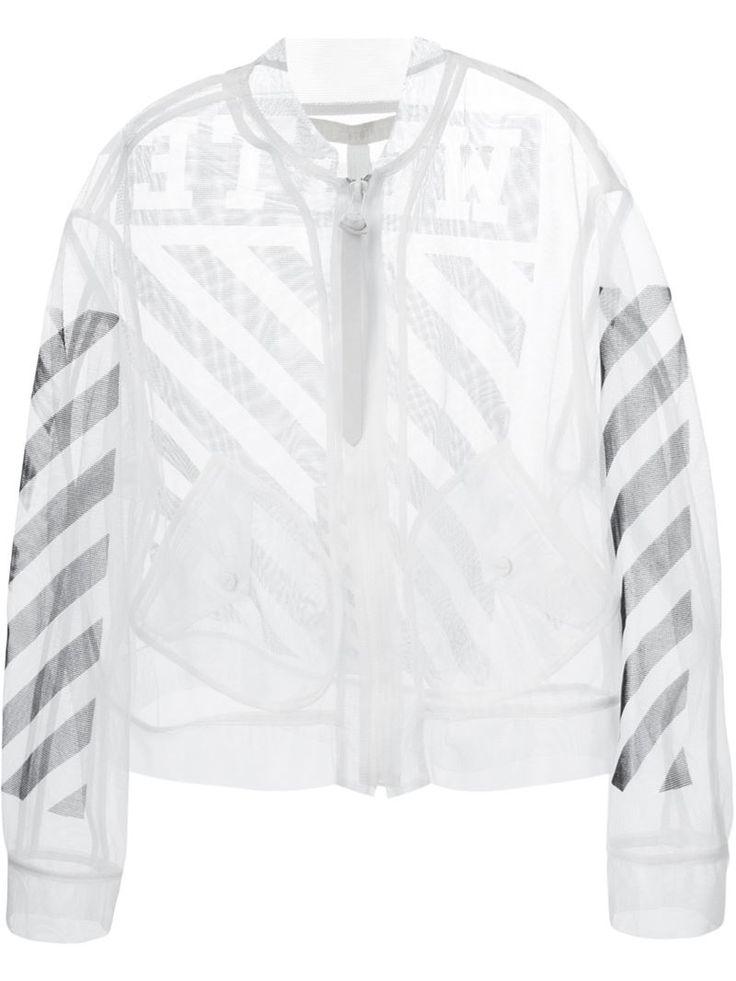 オフ・ホワイト(OFF-WHITE C/O VIRGIL ABLOH)シアーメッシュ ジャケット