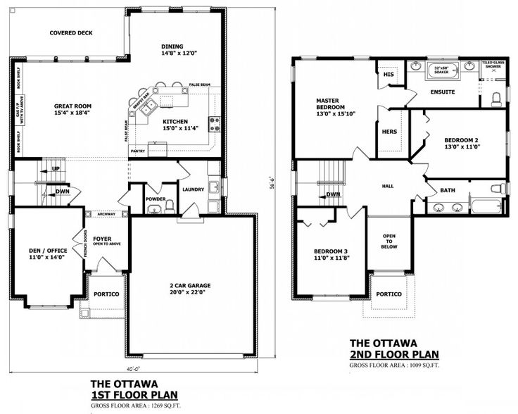 canadian home designs custom house plans stock house plans garage plans - 3 Bedroom House Floor Plan
