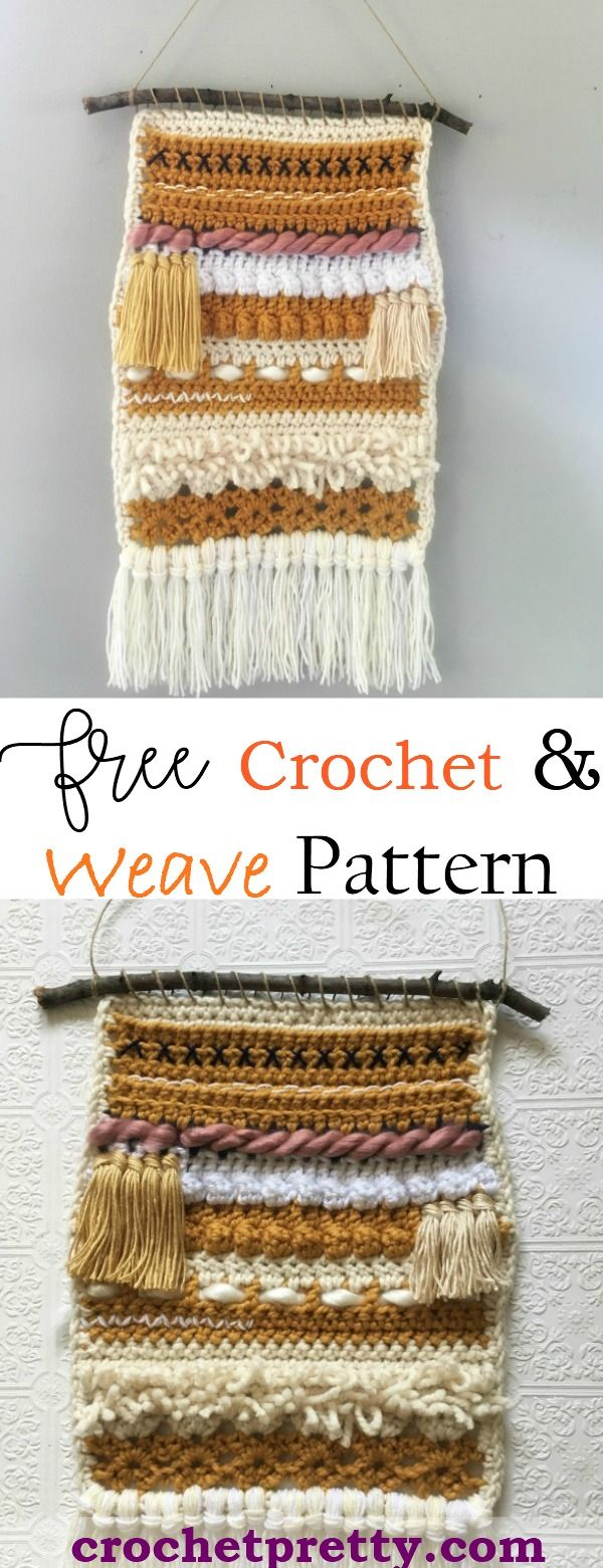 free crochet and weave wall hanging pattern easy and fun on wall hangings id=32305