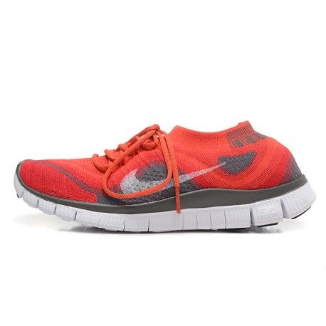 293e94f92e9eb Nike Free Flyknit 5.0 Couples shoes Red   gray  88