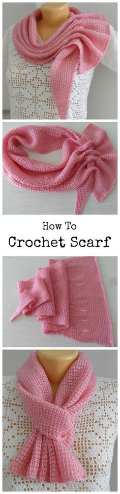Crochet Most Beautiful Scarf (scroll down for pattern and video links)