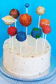 Little Dot Bake Shop - Vanilla Cake with Planets Cake Pops