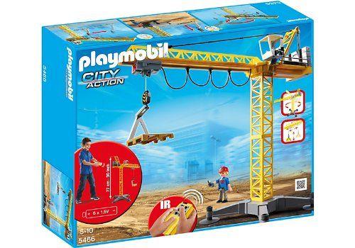 Playmobil 5466 Grande grue chantier télécommande infrarouge 64,90 € livré le moins cher
