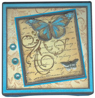 Stamp-it Australia: siset010 Butterfly, 3705D Floral Grunge - Canvas by Annie