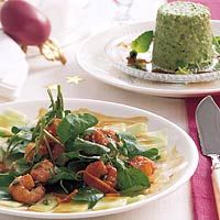 Komkommercarpaccio met gemarineerde tijgergarnalen  - Top recept