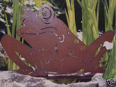 Edelrost frosch gartenteich teich rost eisen garten for Edelrost garten