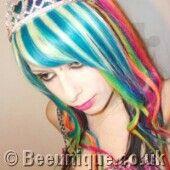 Rainbow Hair Dye Photos Wild hair styles for punk girls crazy gothic hair styles beautiful goth girls crazy hair