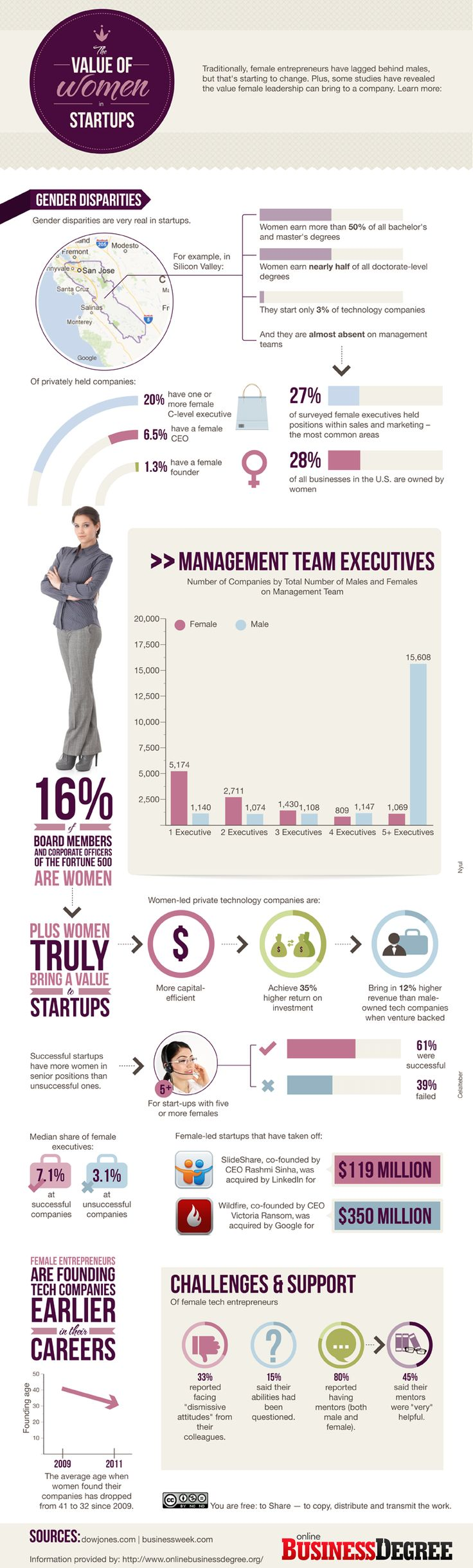 The Value of Women in Startups