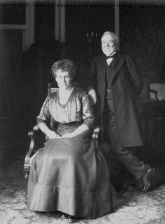 Mr. and Mrs. Carnegie (circa 1902). Andrew Carnegie was a member of the South Fork Fishing & Hunting Club, which owned the dam that caused the Johnstown flood. He donated $10,000 to rebuild Johnstown's library (that building is today the Johnstown Flood Museum), which became one of the world's first Carnegie libraries.