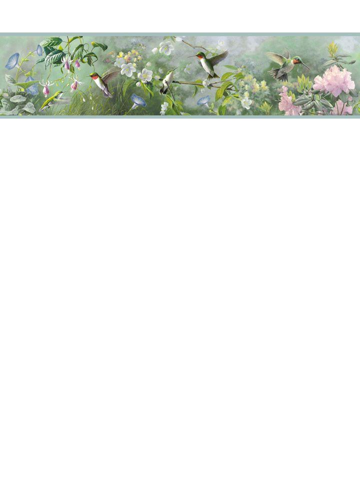 Florals and birds border from wallpaperwholesaler.com