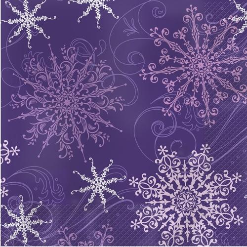 Purple Christmas Paper Luncheon Napkins - Snowflakes  sc 1 st  Pinterest & 165 best Paper Possibilities Snowflake Christmas images on Pinterest ...