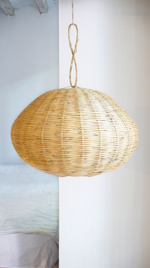 Natural Rattan Lampshade.Handmade in Morocco..: Color: Natural Rattan.: Material: 100% Rattan.: Size: 50 cm ( /-)/. Please allow 12 working days before it is ready to ship.