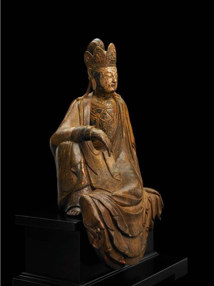 中台山博物館館藏木造觀音坐像 宋~元(960-1368) 木漆 H97.6 ×W56.5 ×D38 cm