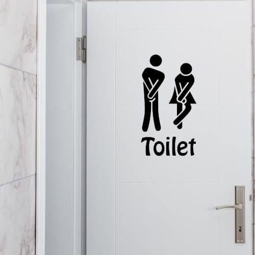 Wallsticker til toalettet