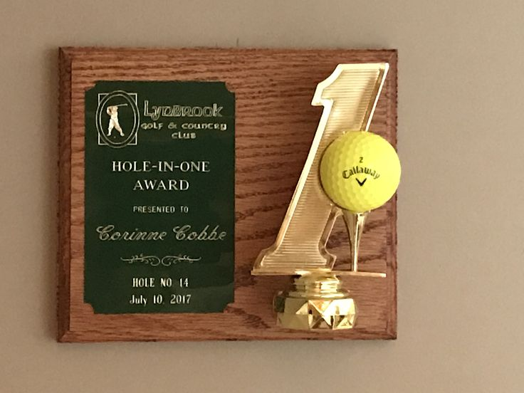 Hole-in-one plaque!