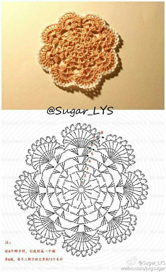 Mejores 124 imágenes de doily crochet en Pinterest | Tapetes de ...