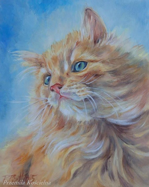 Custom CAT PORTRAIT Oil PAINTING on canvas Hand painted cute kitten, gift for cat lovers, Feline Art #cat #feline #painting #animals #art #oilpaintings