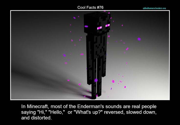 Cool facts #76    More info: http://www.planetminecraft.com/blog/25-minecraft-fun-facts-for-the-common-trivia-fan-wip/