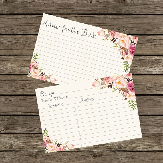 Hey, I found this really awesome Etsy listing at https://www.etsy.com/listing/265613573/advice-cards-for-bridal-shower-advice