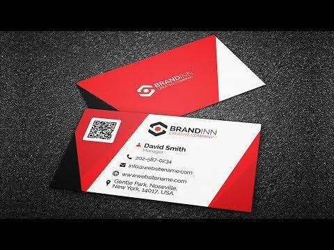 how to make a business card youtube