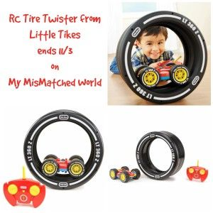 RC Tire Twister from Little Tikes + Giveaway on My MisMatched World Ends 11/3 #giveaway #ad #littletikes #hgg #hgg2015 #ChristmasWishList