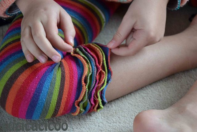 turning outgrown tights into fun leggings by cucicucicoo, via Flickr
