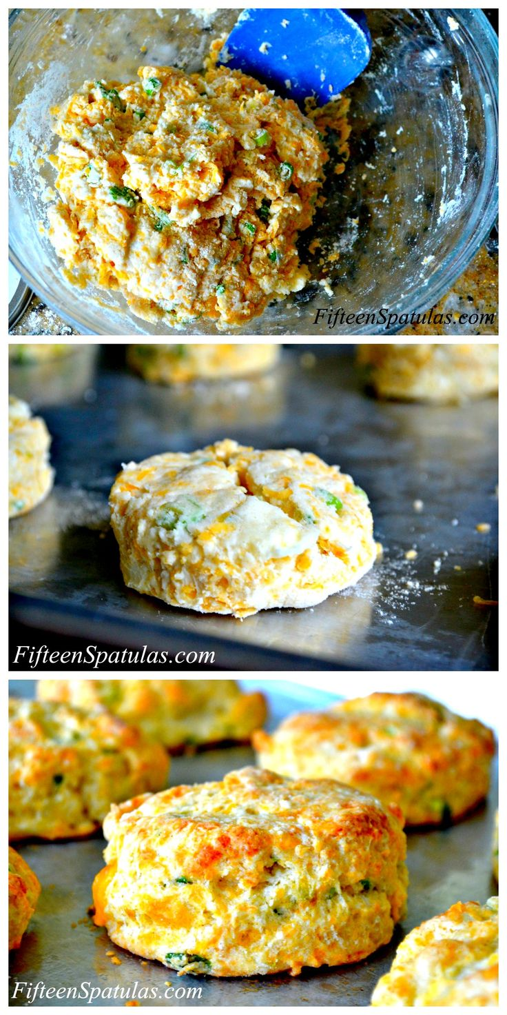 These Cheddar Scallion Biscuits are crispy on the edges and oh-so-fluffy in the middle, the way biscuits are meant to be!