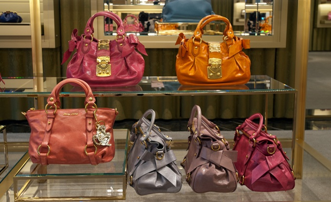 Miu Miu must have - top handle leather handbags in pops of color