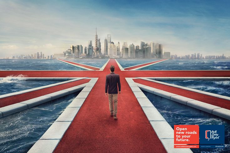 Wall Street English: Open new roads to your future | #ads #adv #marketing #creative #publicité #print #poster #advertising #campaign < repinned by www.BlickeDeeler.de | Visit our inspirational website www.Printwerbung-Hamburg.de