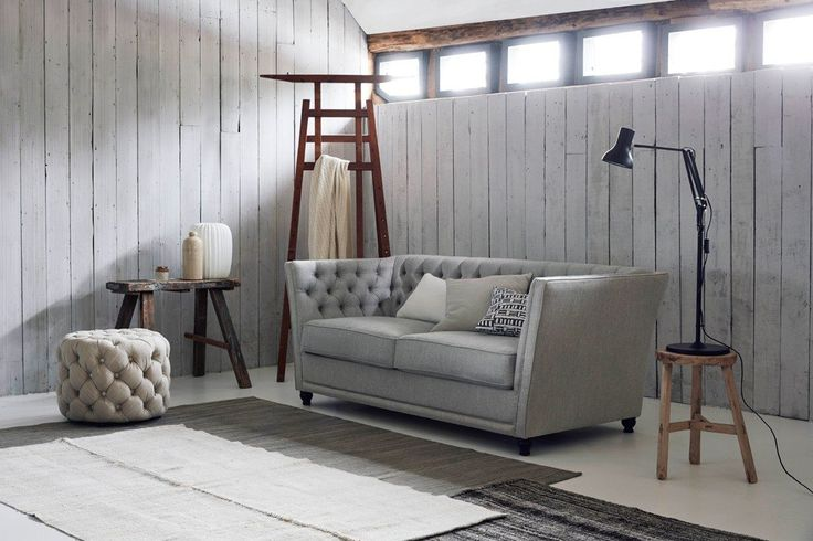 Chesterfield Sofa Bed, Upholstered in Linen Cotton