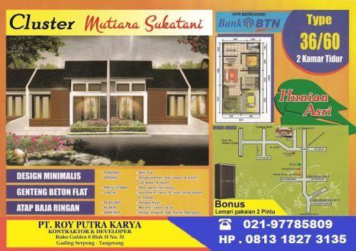 CLUSTER SUBSIDI MUTIARA SUKATANI jl.raya pasar kemis rajeg, sukatani Pasarkemis  Tangerang  Banten
