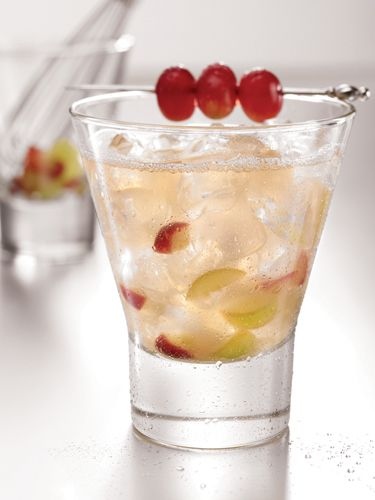 The Savoy  2 oz. SKYY Vodka  3 bunch white grapes  1 oz. lemon juice  ½ oz. agave syrup  Garnish: three red grapes   Muddle grapes in a cocktail shaker. Add ice and remaining ingredients. Shake vigorously. Pour into a glass filled with ice. Garnish with three red grapes.  Source: Chef Marcus Samuelsson, SKYY Vodka  Courtesy Image