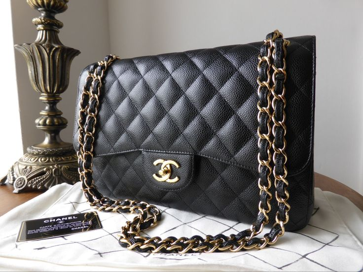 chanel bags classic. Chanel Timeless Classic 2.55 Jumbo Flap Bag In Black Caviar With Gold Hardware \u003e Http: Bags