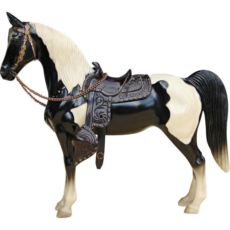 Vintage Earliest Breyer Western Horse One Owner Piebald Pinto