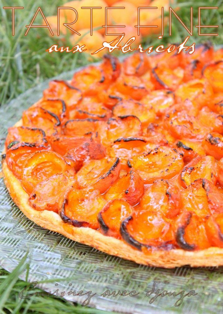 Tarte fine aux abricots frais (pate feuilletée)