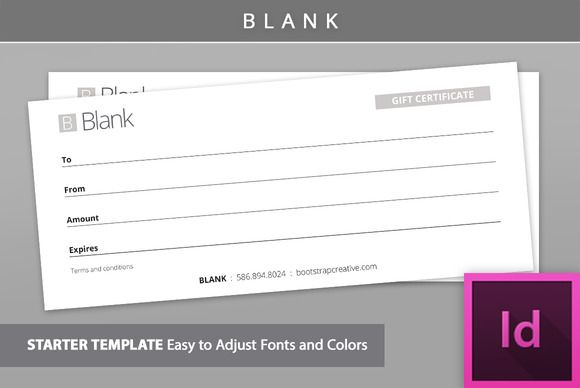 Blank Gift Certificate Template by Bootstrap Creative on @creativemarket