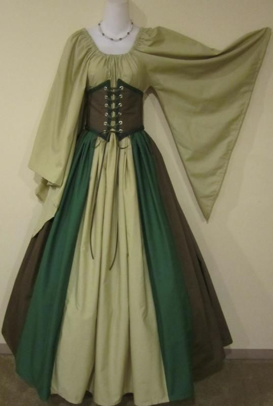 Gowns Pagan Wicca Witch:  Woodland Elf Triple-Color Cincher Set #gown.
