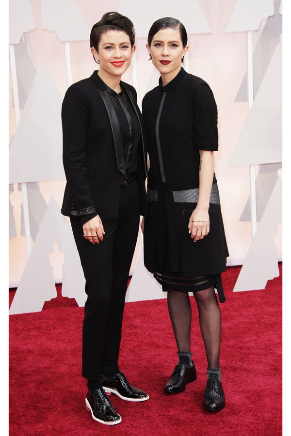 Ladies-in-tuxes season draws to an epic close.This past Sunday, the Oscars brought the awards season to its unofficial close, meanwhile Tegan and Sara Quin, whose performance in matching suits by The Kooples was one of the night's biggest wins, became unofficial spokespeople for the ladies-in-tuxes movement. (Tegan's such a fan of the French brand, she wore it ...