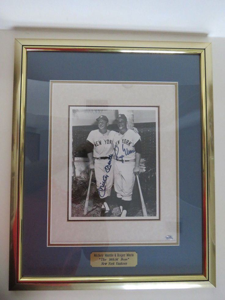 MICKEY MANTLE / ROGER MARIS SIGNED! Autographed 8x10 photo, framed VERY RARE! please retweet