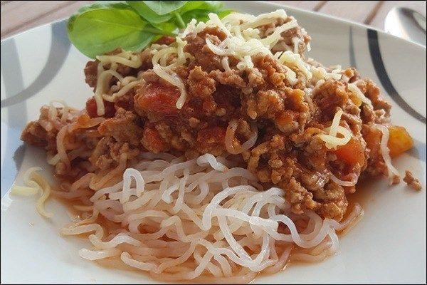 Lowcarb Spaghetti Bolognese