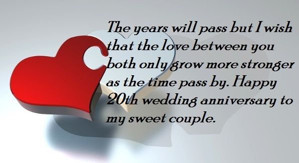 Happy 20th Wedding Anniversary Wishes Quotes Anniversary Wishes Quotes 20 Wedding Anniversary Anniversary Wishes Message