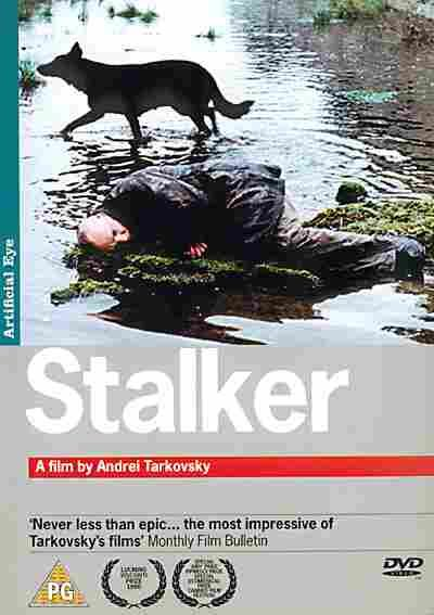 Stalker. (Soviet Union, 1979). Directed by Andrei Tarkovsky. It depicts an expedition led by the Stalker to bring his two clients to a site known as the Zone, which has the supposed potential to fulfill a person's innermost desires.