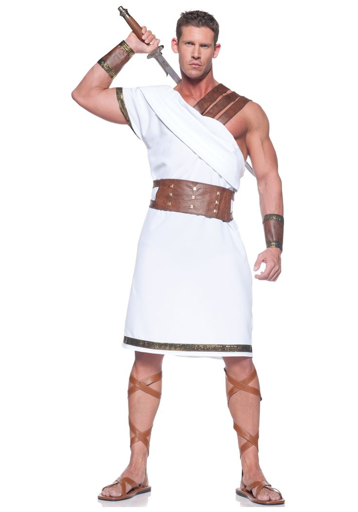 Greek Warrior Costume - Men's Greek, Roman Toga Costume Ideas