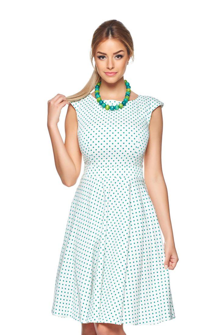 PrettyGirl Tender Love Green Dress, sleeveless, back zipper fastening, elastic fabric