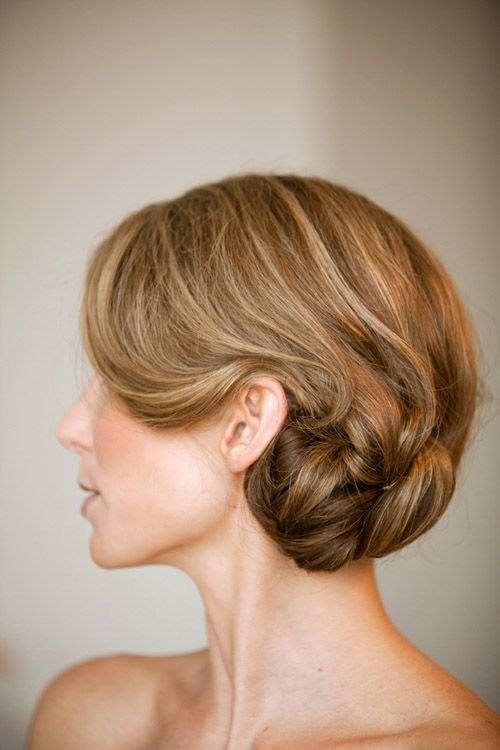 Best Wedding Hair Low Chignons Images On Pinterest Chignons - Classic elegant hairstyle