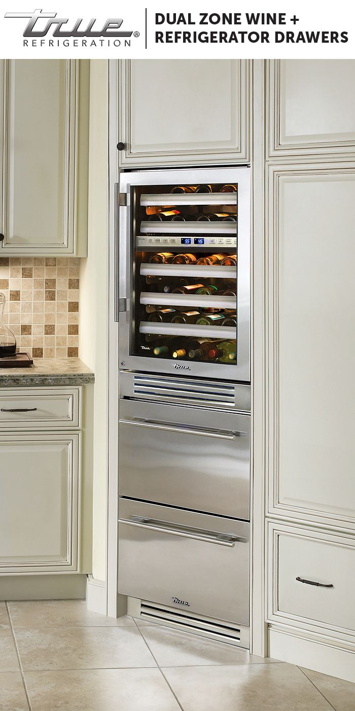 wine cooler kitchen cabinet the vertical space to spare stack a true dual zone 29304