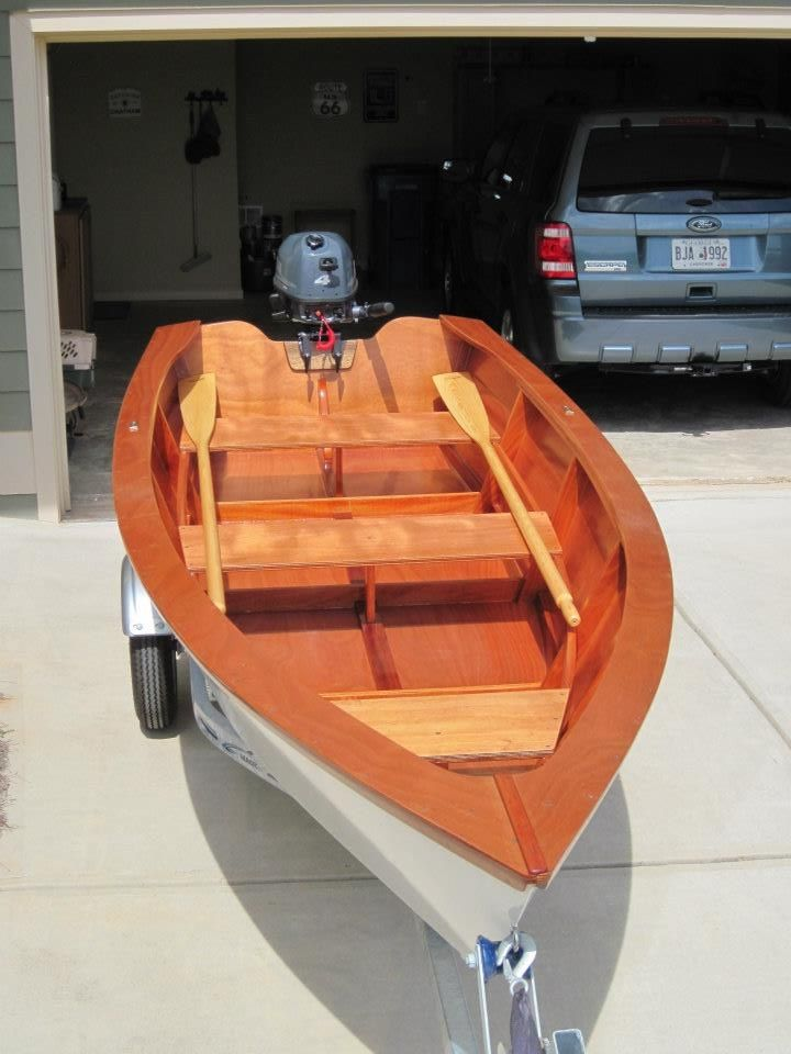 This is my husband's latest boat building project.  It turned out so well, he thinks he'll keep it instead of selling it.