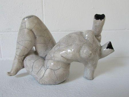 Midge Johansen   Gay Abandon III - 2012   Raku fired ceramic sculpture   Approx 15 high x 20cm